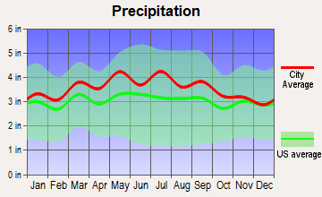 Blue Ridge, Virginia average precipitation