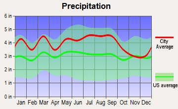 Capron, Virginia average precipitation