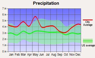 Ewing, Virginia average precipitation