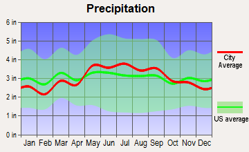 Harrisonburg, Virginia average precipitation