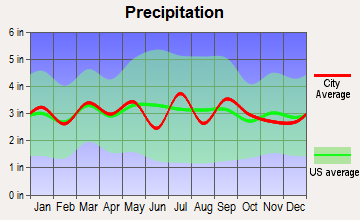 Keysville, Virginia average precipitation