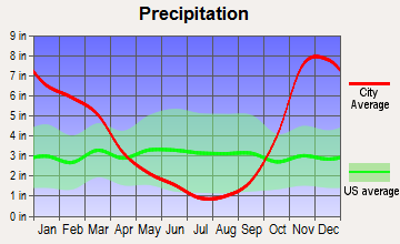 Bainbridge Island, Washington average precipitation