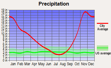 Baring, Washington average precipitation