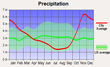 Blaine, Washington average precipitation