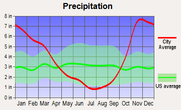 DuPont, Washington average precipitation