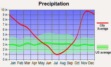 La Center, Washington average precipitation