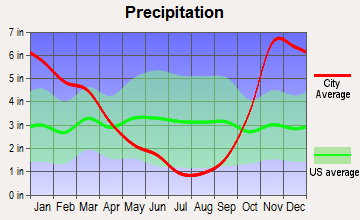 Lakewood, Washington average precipitation