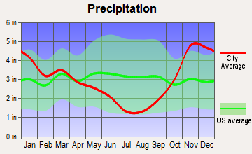Langley, Washington average precipitation