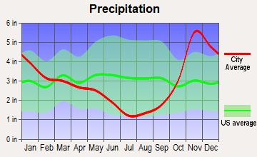 Marietta-Alderwood, Washington average precipitation