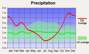 Monroe, Washington average precipitation