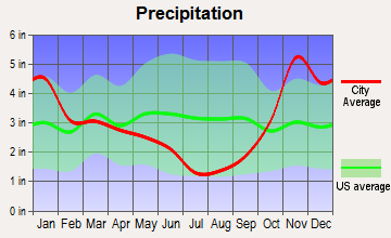 Mount Vernon, Washington average precipitation