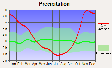 Nisqually Indian Community, Washington average precipitation