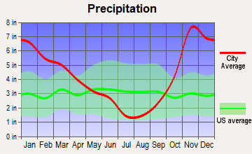 Tahoma-Maple Valley, Washington average precipitation