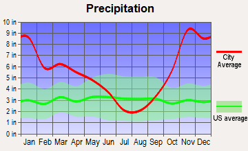 Startup, Washington average precipitation
