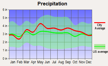 Shepherdstown district, West Virginia average precipitation