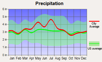 Beaver, West Virginia average precipitation