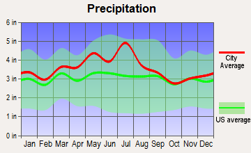Bradley, West Virginia average precipitation