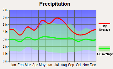 Craigsville, West Virginia average precipitation