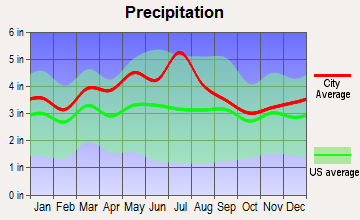 Fayetteville, West Virginia average precipitation