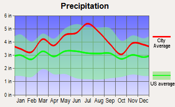 Gassaway, West Virginia average precipitation
