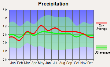 Hedgesville, West Virginia average precipitation