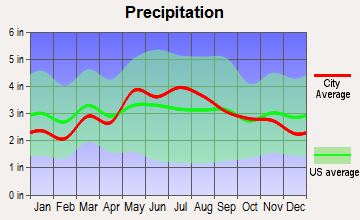 Petersburg, West Virginia average precipitation