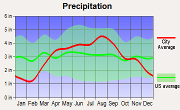 Waldo, Wisconsin average precipitation