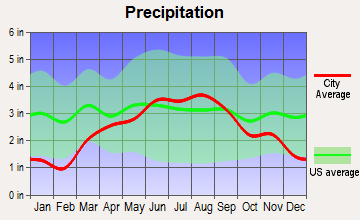 Bellevue Town, Wisconsin average precipitation