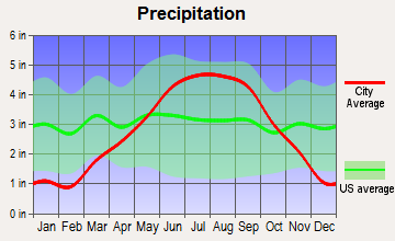 Chief Lake, Wisconsin average precipitation