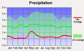 Jackson, Wyoming average precipitation