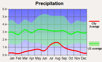 Saguache, Colorado average precipitation