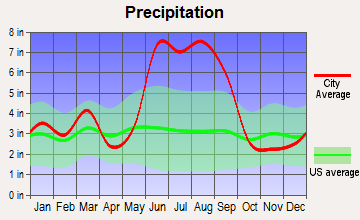 Inverness Highlands South, Florida average precipitation