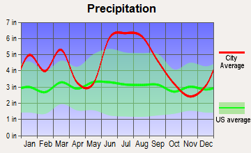 Live Oak, Florida average precipitation