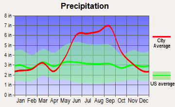 Merritt Island, Florida average precipitation