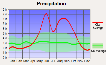 North Key Largo, Florida average precipitation