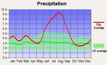 Trenton, Florida average precipitation