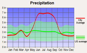 Yeehaw Junction, Florida average precipitation