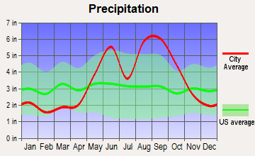 Big Pine Key, Florida average precipitation