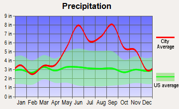 Gulf Stream, Florida average precipitation