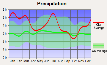Smithville, Georgia average precipitation