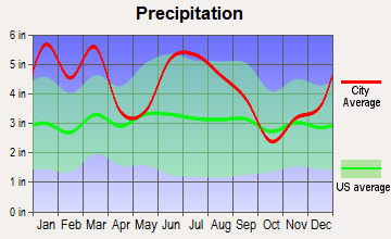 Moultrie, Georgia average precipitation
