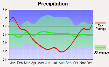 Haleiwa, Hawaii average precipitation