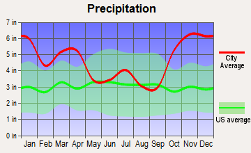 Kalaheo, Hawaii average precipitation