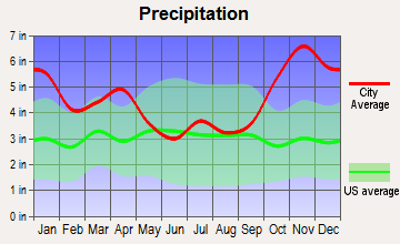 Lihue, Hawaii average precipitation