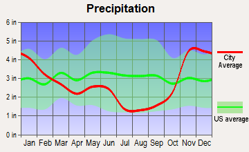 Clark Fork, Idaho average precipitation