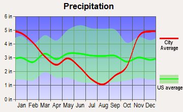 Elk River, Idaho average precipitation