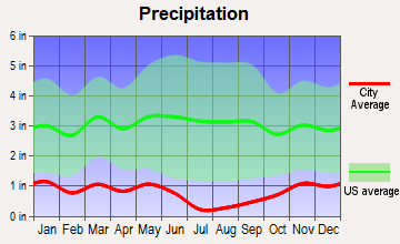 Filer, Idaho average precipitation