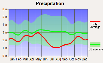 Kamiah, Idaho average precipitation