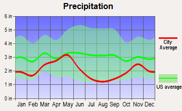Winchester, Idaho average precipitation