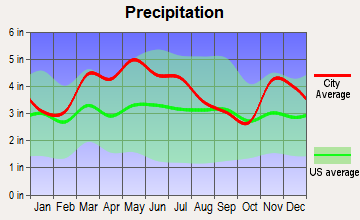 Norris City, Illinois average precipitation
